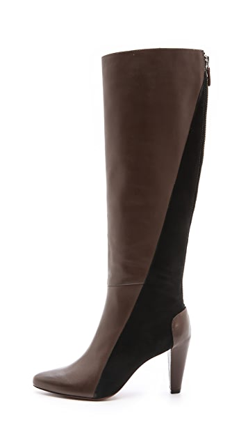 Derek Lam 10 Crosby Sammie Two Tone Tall Boots