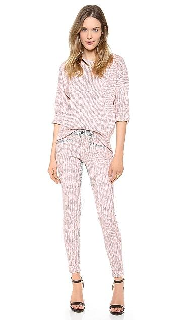 Derek Lam 10 Crosby Skinny Colorblock Pants