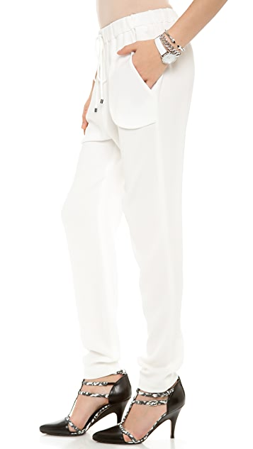 Derek Lam 10 Crosby Drawstring Waist Track Pants