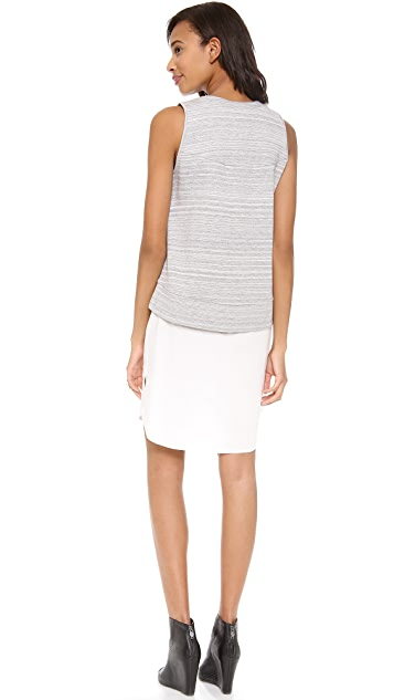 Derek Lam 10 Crosby 2 in 1 Combo Tank Dress