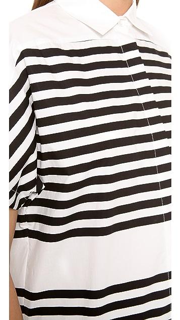 Derek Lam 10 Crosby Striped Shirt