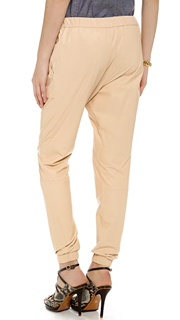 Derek Lam 10 Crosby Leather Track Pants