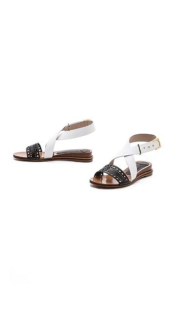 Derek Lam 10 Crosby Pilar Demi Wedge Sandals