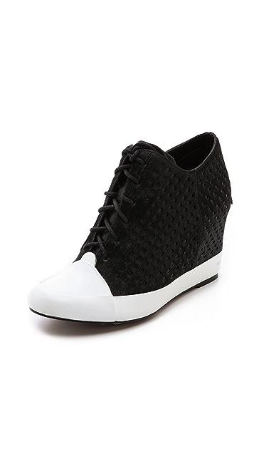 Derek Lam 10 Crosby Meryl Perforated Wedge Sneakers