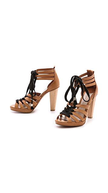Derek Lam 10 Crosby Jasmin Strappy Lace Up Sandals
