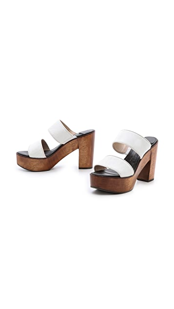 Derek Lam 10 Crosby Luanda Too Haircalf Mules