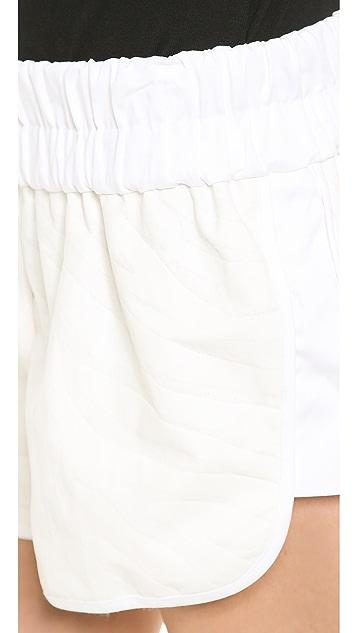 Derek Lam 10 Crosby Elastic Waist Zebra Shorts