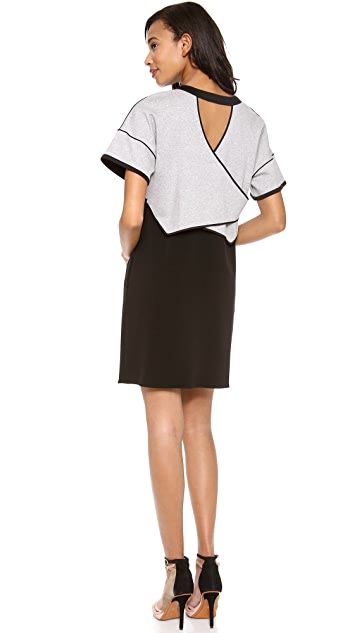 Derek Lam 10 Crosby 2 in 1 Combo Dress
