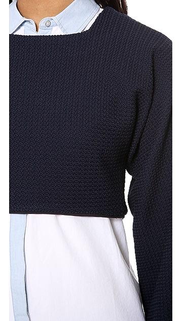 Derek Lam 10 Crosby Long Sleeve Crop Top