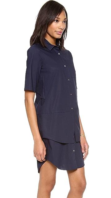 Derek Lam 10 Crosby Poplin Shirtdress