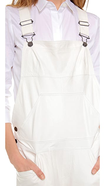 Derek Lam 10 Crosby Leather Overalls