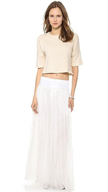 Derek Lam 10 Crosby Pleated Maxi Skirt