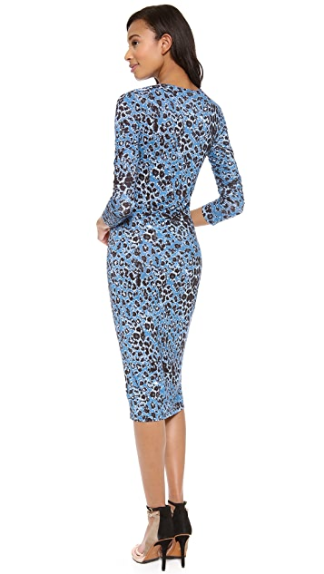 Derek Lam 10 Crosby Long Sleeve Leopard Dress