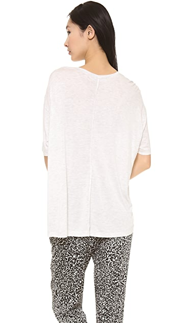 Derek Lam 10 Crosby Boxy Center Seam Tee