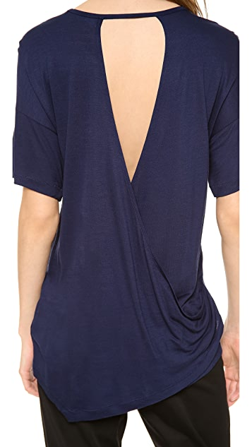 Derek Lam 10 Crosby Open Back Tee