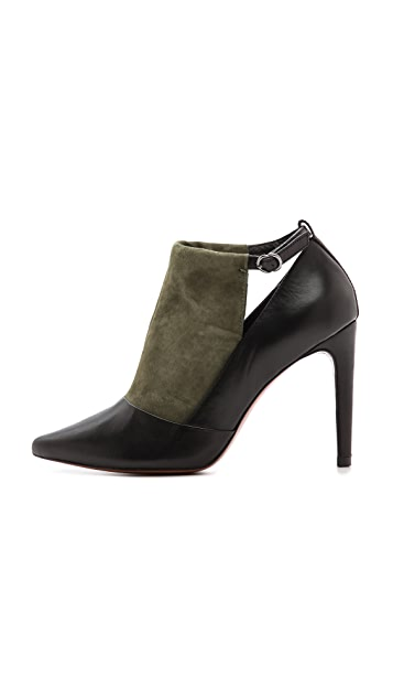 Derek Lam 10 Crosby Casia Two Tone Cutout Booties