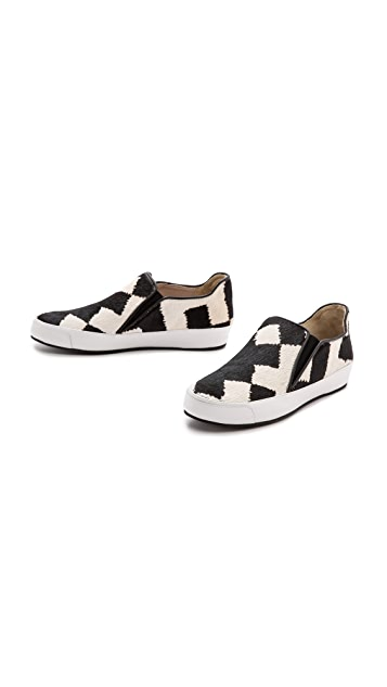 Derek Lam 10 Crosby Jared Slip On Haircalf Sneakers