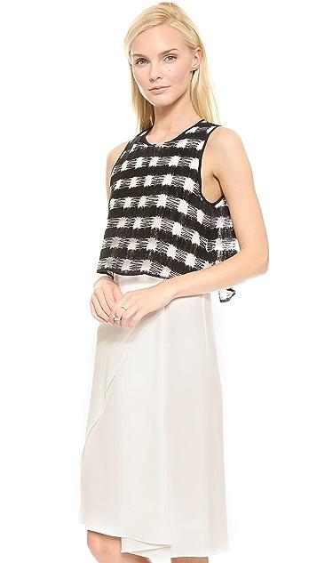 Derek Lam 10 Crosby Plaid Layered Dress