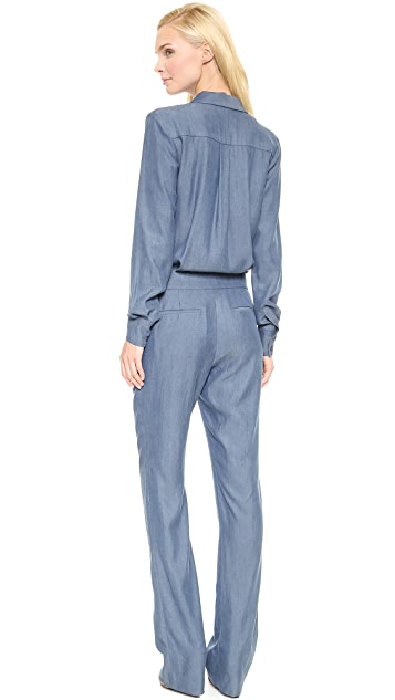 Derek Lam 10 Crosby Jumpsuit with Scarf Tie