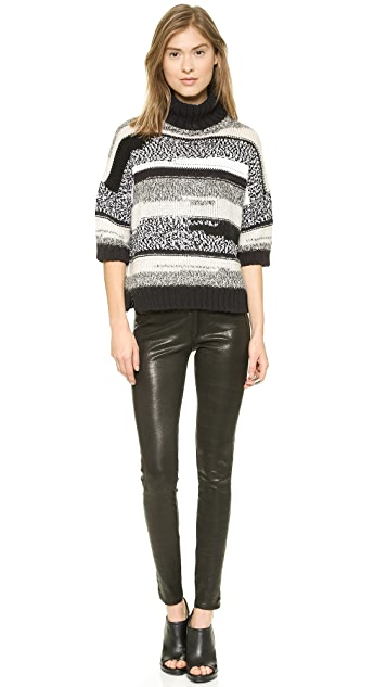 Derek Lam 10 Crosby Turtleneck Crop Sweater