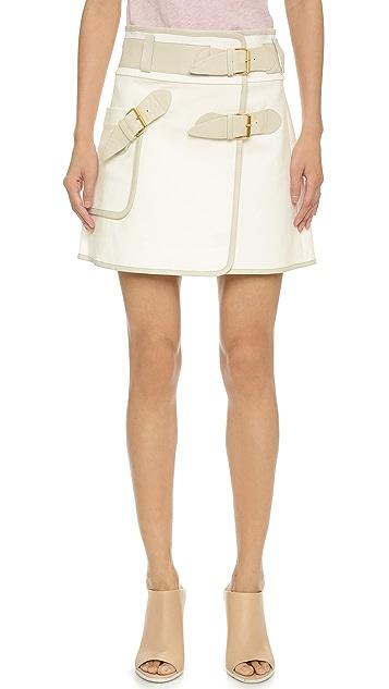 Derek Lam 10 Crosby Wrap Skirt with Buckles