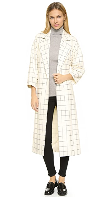 Derek Lam 10 Crosby Flannel Trench Coat