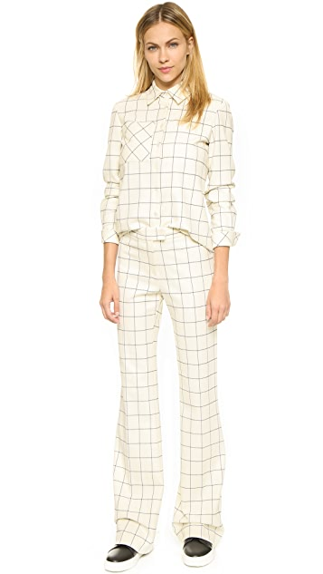 Derek Lam 10 Crosby Flannel Plaid Shirt