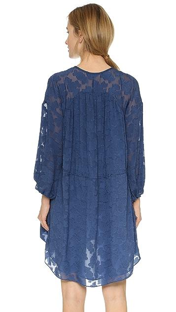 Derek Lam 10 Crosby Floral Dress with Tassel Ties