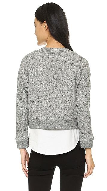 Derek Lam 10 Crosby Melange Sweatshirt with Lacing