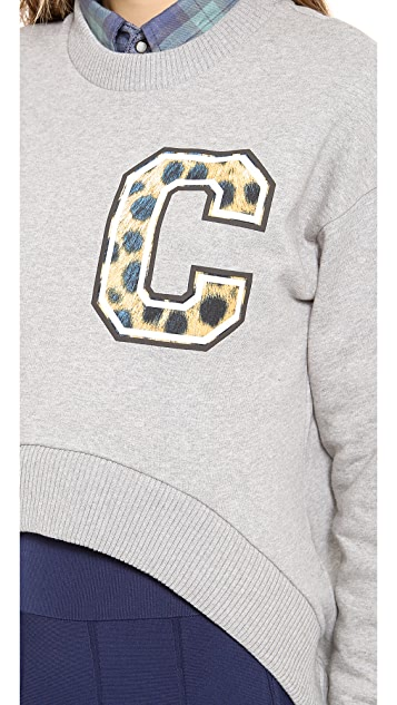 Etre Cecile Little C Cheetah Cropped Top