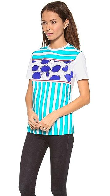 Etre Cecile Breton Stripe Cheetah T-Shirt