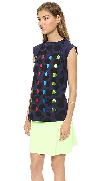 Etre Cecile Allover Cheetah Foil Dots Tank