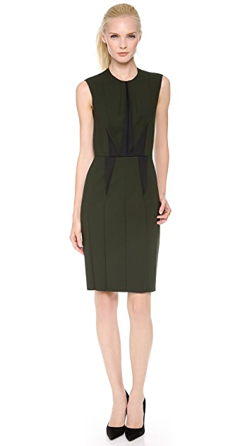 Cedric Charlier Sleeveless Double Crepe Dress