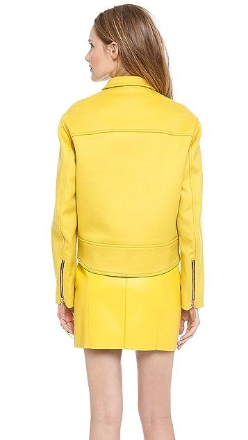 Cedric Charlier Wool Moto Jacket