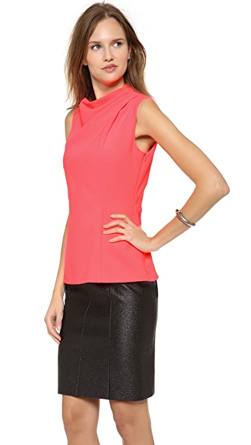 Cedric Charlier Side Draped Top