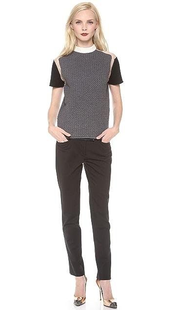 Cedric Charlier Short Sleeve Top