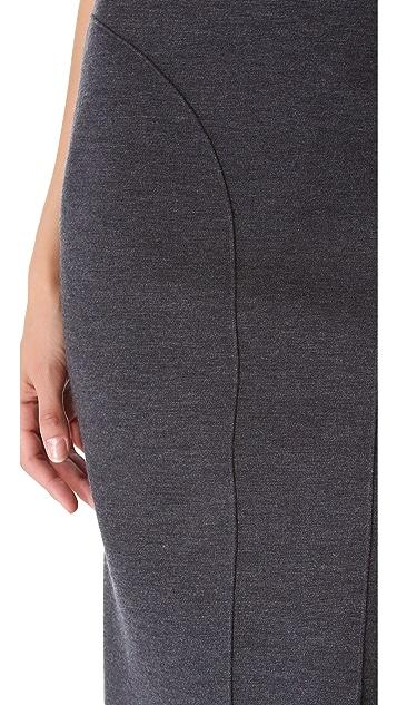 Cedric Charlier Seamed Pencil Skirt
