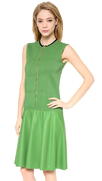 Cedric Charlier Faux Leather Dress