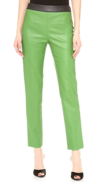 Cedric Charlier Faux Leather Pants