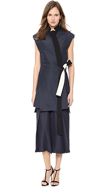 Cedric Charlier Sleeveless Coat