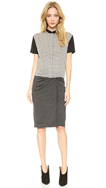 Cedric Charlier Short Sleeve Blouse