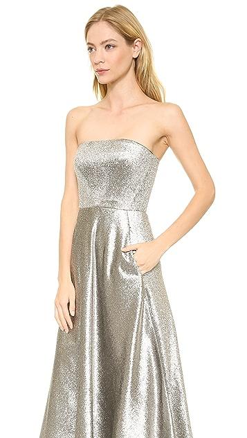 Cedric Charlier Strapless Dress