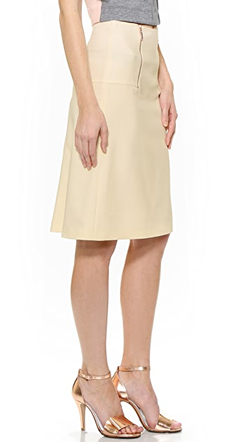 Cedric Charlier Double Zip Skirt