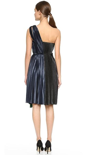 Cedric Charlier One Shoulder Dress