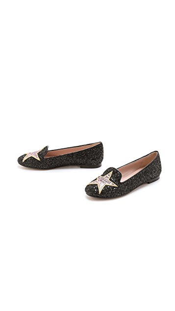 Chiara Ferragni Glitter Hollywood Star Flats
