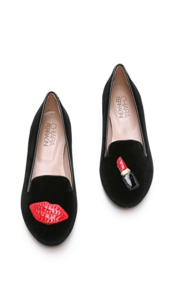Chiara Ferragni Lips Smoking Slippers
