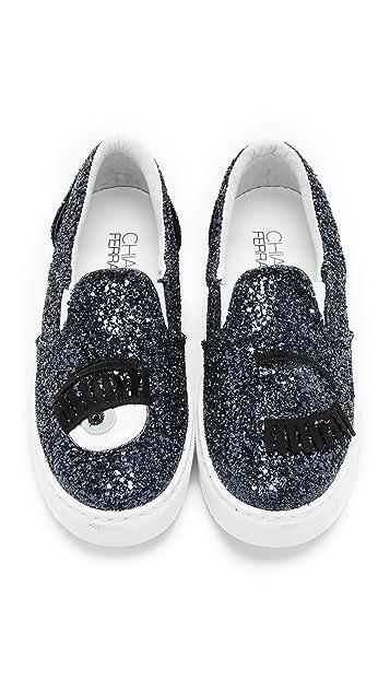 Chiara Ferragni Wink Slip On Sneakers