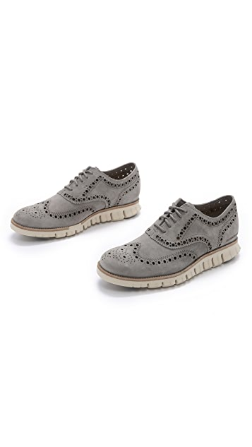 Cole Haan Zerogrand Wingtip Suede Oxfords