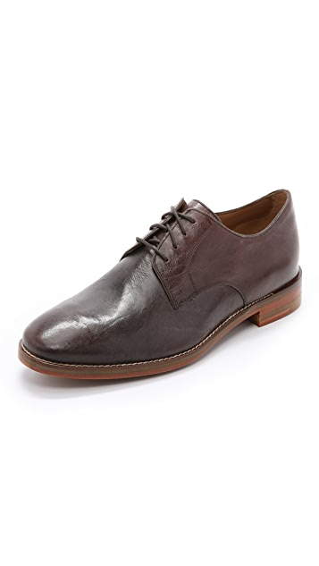 Cole Haan Cambridge Plain Toe Tumbled Leather Oxfords