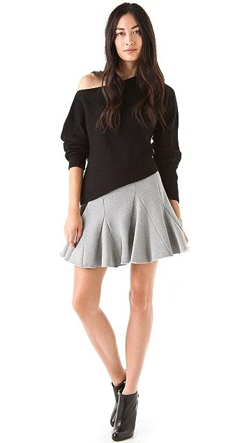 Chalayan Grey Line Bark Skirt